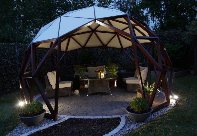 ArmaGado Dome Shelter at night
